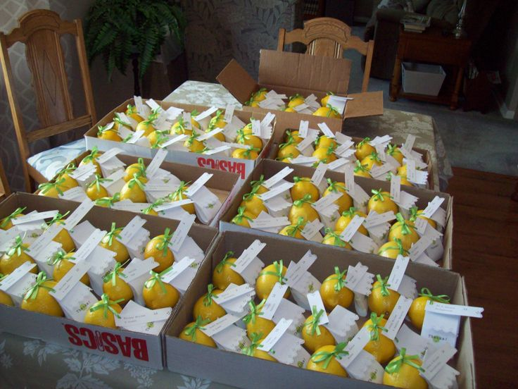 Lemon favours - ready for transport
