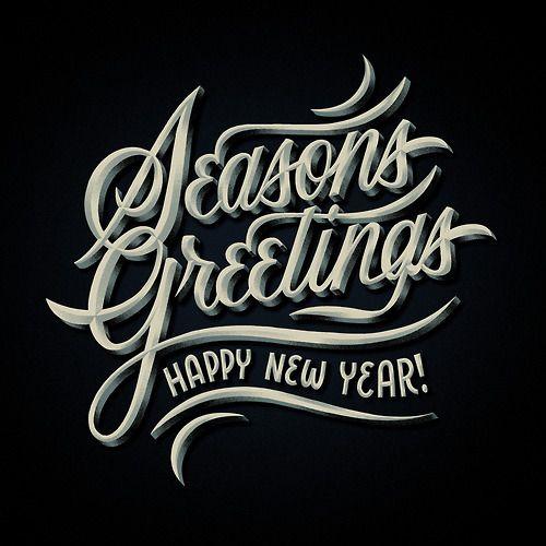 Seasons Greetings by Brett Stenson, 3D, Texture, Grain, Script, Great Gatsby, Edging, Type, Layout, Swash