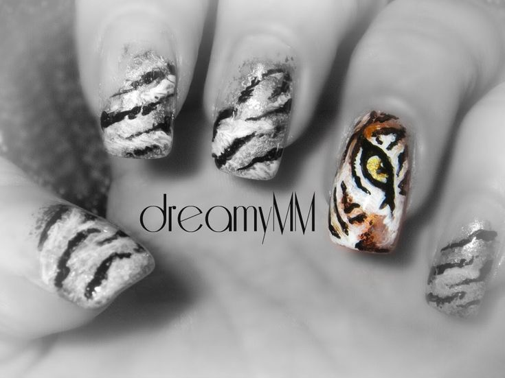 Tiger's Eye Nail Art Tutorial