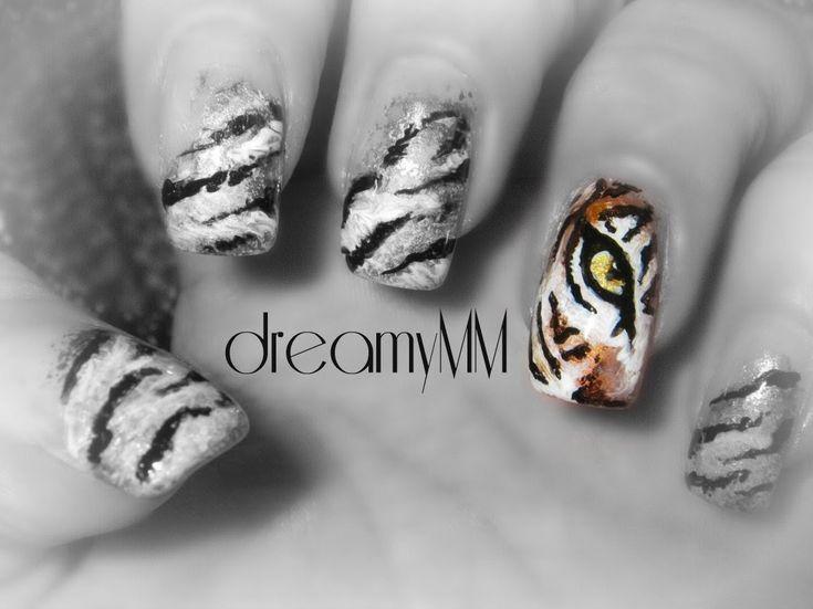 Tiger's Eye Nail Art Tutorial