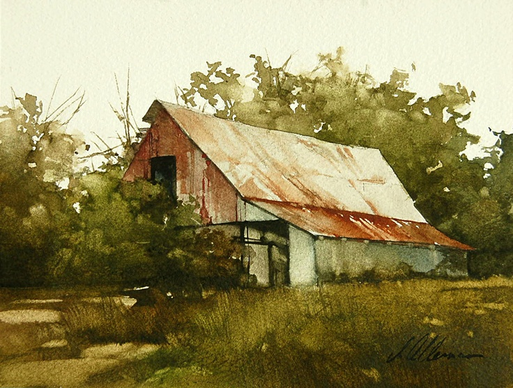 293 best images about art barns churches houses on for Watercolor barn paintings