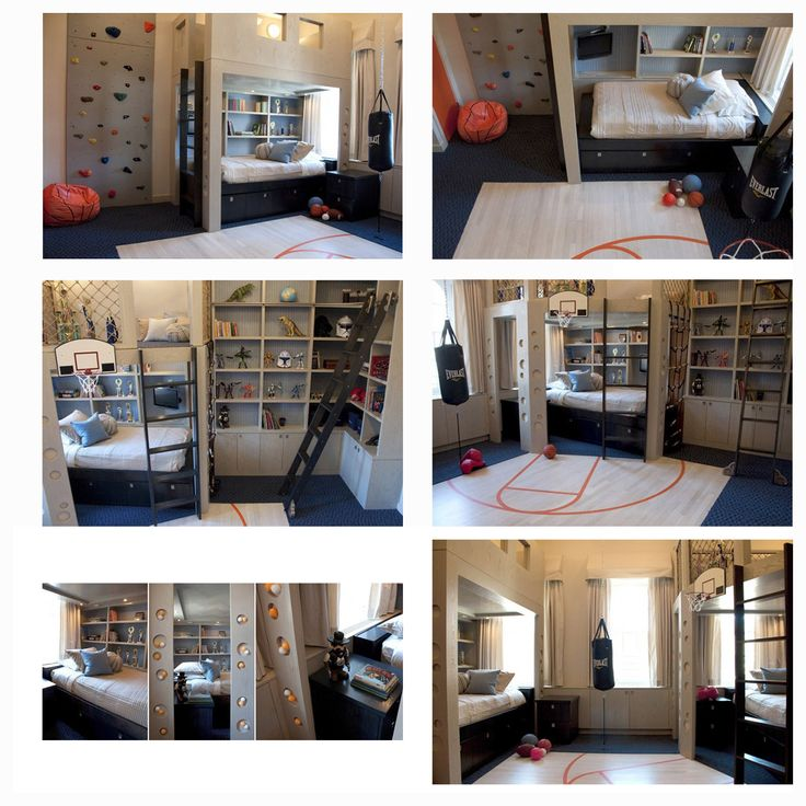 Kids Rooms Climbing Walls And Contemporary Schemes: Awesome Kids' Room With A Climbing Wall And Indoor