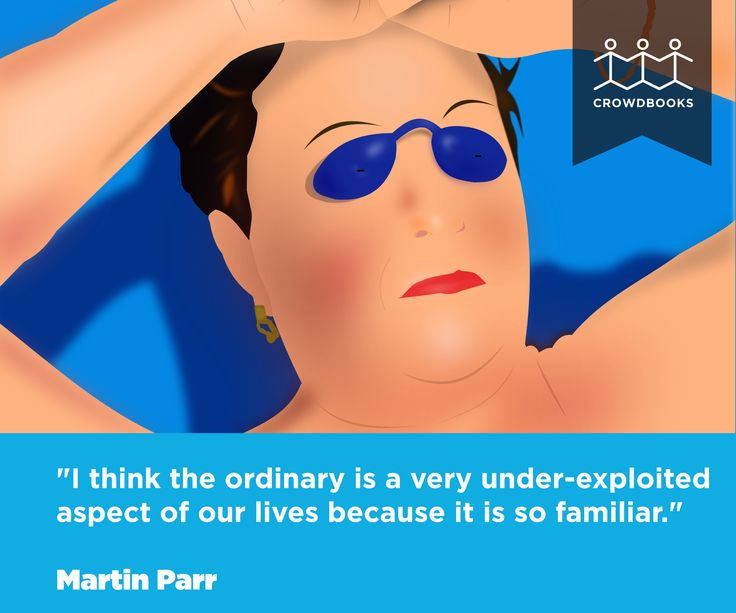 """I think the ordinary is a very under-exploited aspect of our lives because is so familiar."" Martin Parr bit.ly/crowd_books"