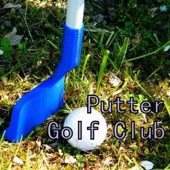 Fichier 3D Putter golf club, jean-fabric