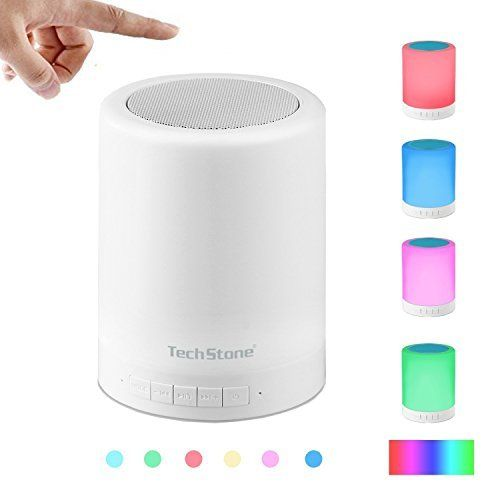 Wireless Bluetooth Speakers Bedside Lamp, Portable Multifunctional Bluetooth Speaker with Smart Touch LED Mood Lamp, Muisc Player / Hands-free Bluetooth Speakerphone, TF card / AUX supported, White, http://www.amazon.com/dp/B01IKLZXCA/ref=cm_sw_r_pi_awdm_x_8u.dyb0MZY40A