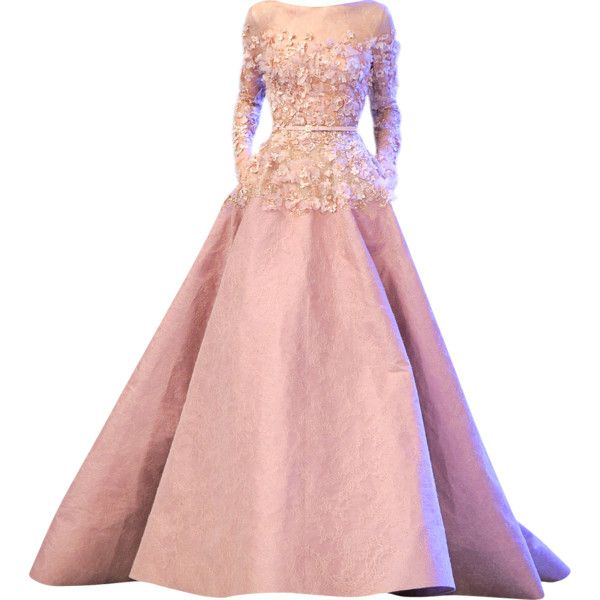 Tube Perruque ❤ liked on Polyvore featuring dresses, gowns, long dresses, vestidos, tube dress, pink evening gowns, elie saab evening gowns and elie saab