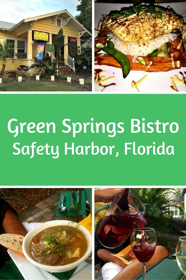Green Springs Bistro is a hidden jewel in the little town of Safety Harbor on Florida's Gulf Coast. They have delicious food and some really tasty sangria. #safetyharbor #loveFL #travel #gulfcoast #foodies