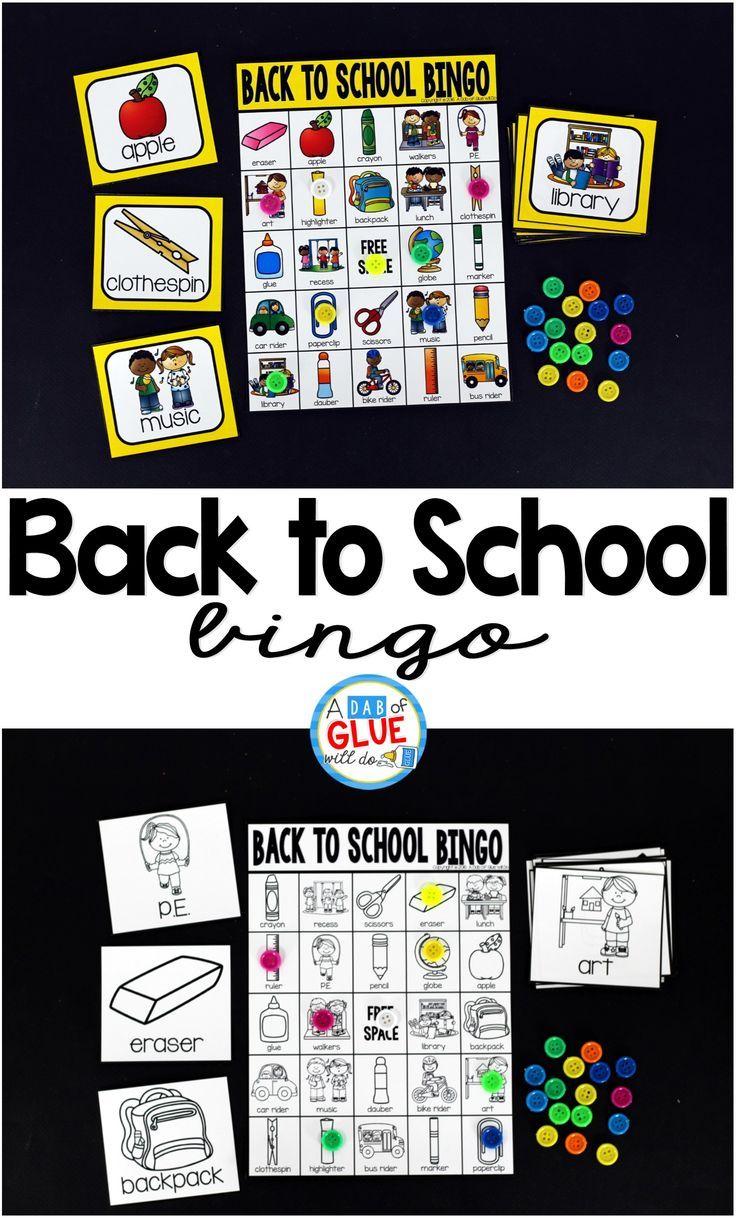 Back to school design background with primary subject matter school - Back To School Bingo