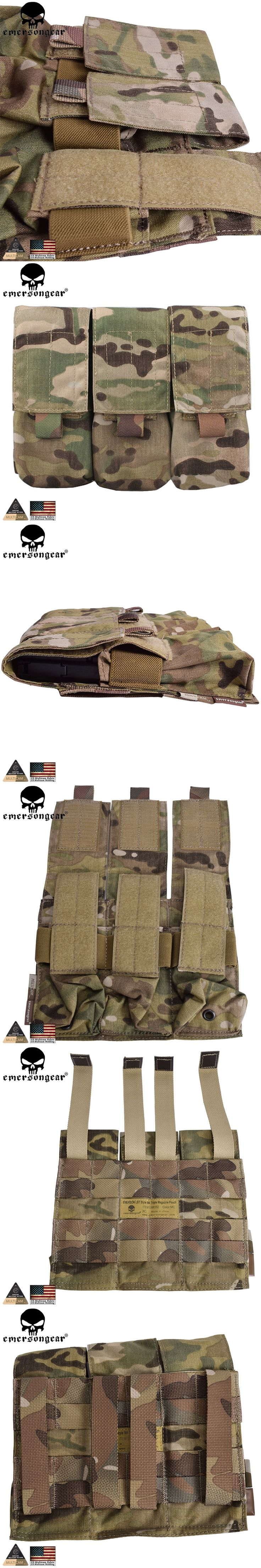 EMERSONGEAR LBT Style M4 Triple Pistol Mag Pouch Molle Military Airsoft Paintball Combat Gear Gun Magazine  Pouch EM6352