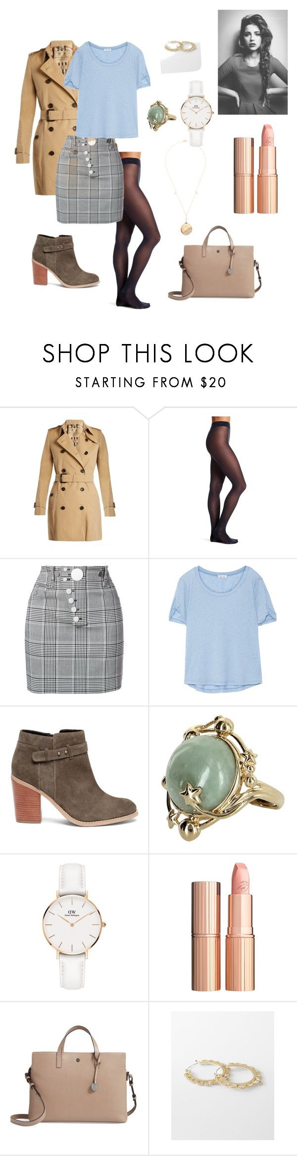"""""""Newspaper"""" by sheatheunicorn on Polyvore featuring Burberry, Wolford, Alexander Wang, Splendid, Sole Society, Vintage, Daniel Wellington, Charlotte Tilbury, Lodis and Express"""