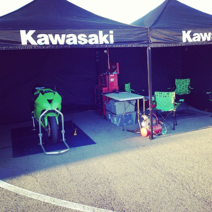 A little preview of the 2014 DDR Kawasaki team set up