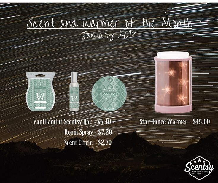 January 2018 Scentsy Scent & Warmer of the Month
