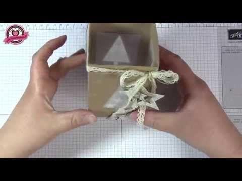 ▶ Tutorial: Weihnachtliche Laterne basteln, mit Stampin' Up! - YouTube