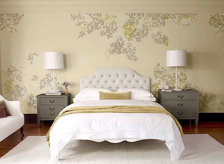 Benjamin Moore Paint Colors - Yellow Bedroom Ideas - Tone-on-Tone Yellow Bedroom - Paint Color Schemes: