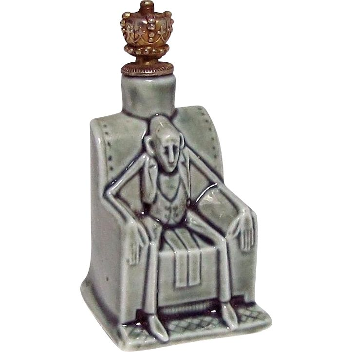 Rare Schafer & Vater The Grotesques Skinny Man Crown Top Perfume from charmalier on Ruby Lane