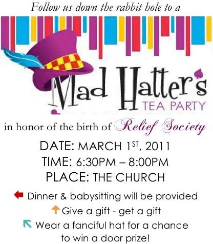 The Many Mini-Adventures of the Wards: Relief Society Birthday Celebration 2011