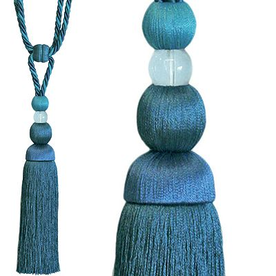 Jones Rope Curtain Tieback, Chic Teal
