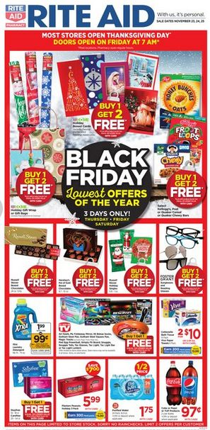 Rite Aid Black Friday weekly ad Nov 23 - 25, 2017