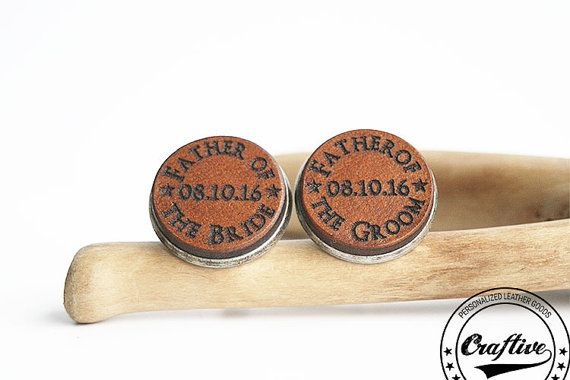 Father of the Bride Cufflinks Father of the by CraftiveLeather