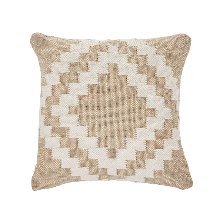 The Mercer + Reid Leon Cushion has been beautifully hand-woven and made in India. This carefully crafted neutral cushion comes in two different detailed designs; Spot, which is made from jute/cotton fabric, and the Aztec which features materials such as wool, cotton and jute.