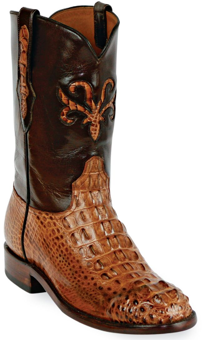 Mens Black Jack Boots Cigar Hornback Alligator Custom