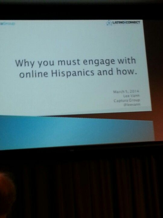 #latinoic Speaker Lee Vann