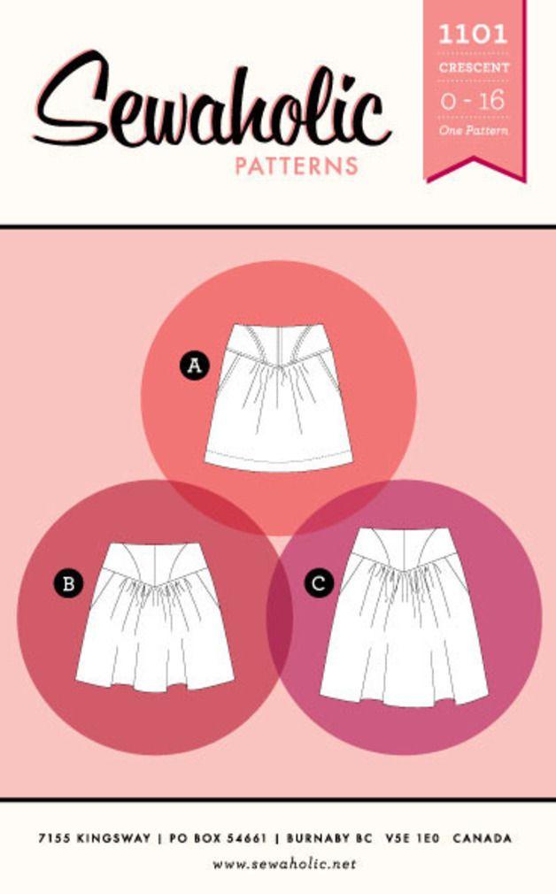 21 besten Sewaholic Crescent Skirt Bilder auf Pinterest | Halbmonde ...