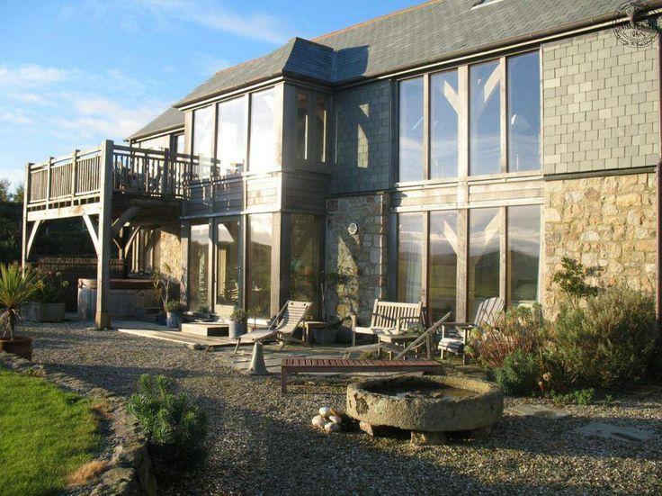 Exterior showing glazing & balcony | Green Oak House | Pinterest