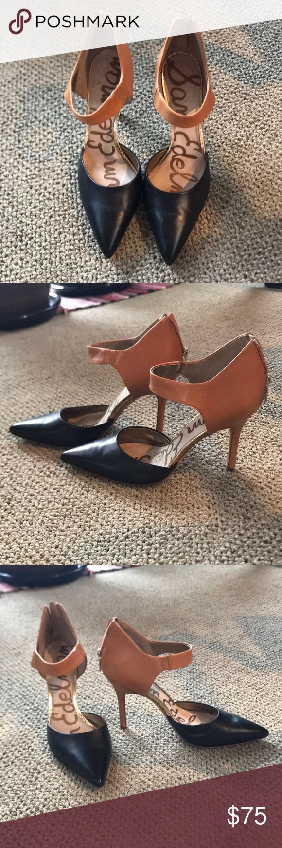 Sam Edelman heels Gently worn Sam Edelman heels! So cute and sad to part with them but just haven't been wearing them enough Sam Edelman Shoes Heels