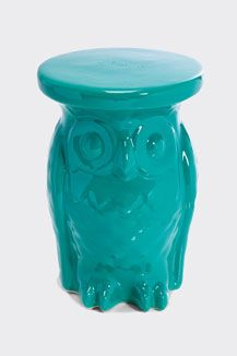 Owls, Turquoise...what's not to love? Urban Outfitters - It might be too tall... O.o