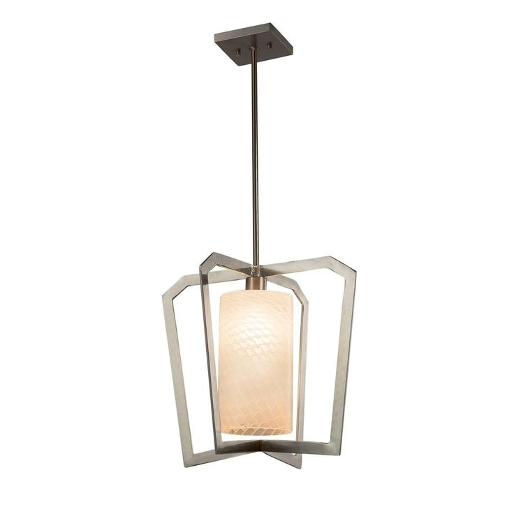 Justice Design Fusion Aria Brushed Nickel Chandelier, Weave