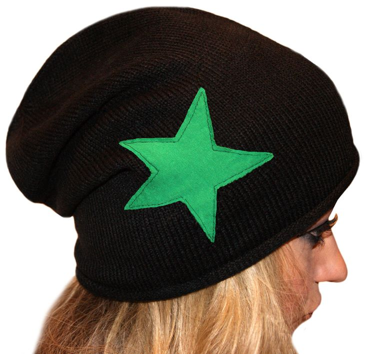 Comfy and stylish slouch hat for roller derby jammers and enthusiasts! Stars sewn symmetricaly on each side. Comes in variety of star colors!