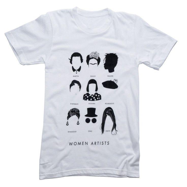 (10% goes to Planned Parenthood) artists tee t-shirt by stefanie boyd banks includes AGNES MARTIN FRIDA KAHLO KARA WALKER NICOLE EISENMAN YAYOI KUSAMA LOUISE BOURGEOIS FAITH RINGGOLD YOKO ONO VAGINAL DAVIS