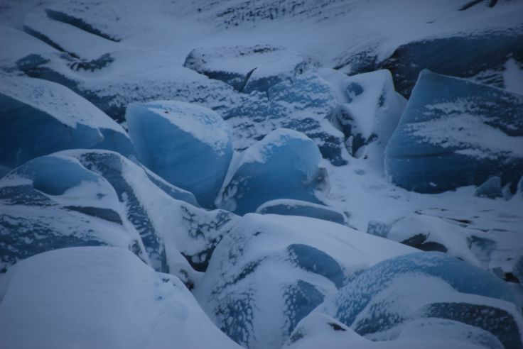 Glacier, Iceland, winter