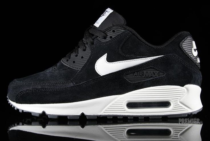 Air Max 90 Black And White Suede