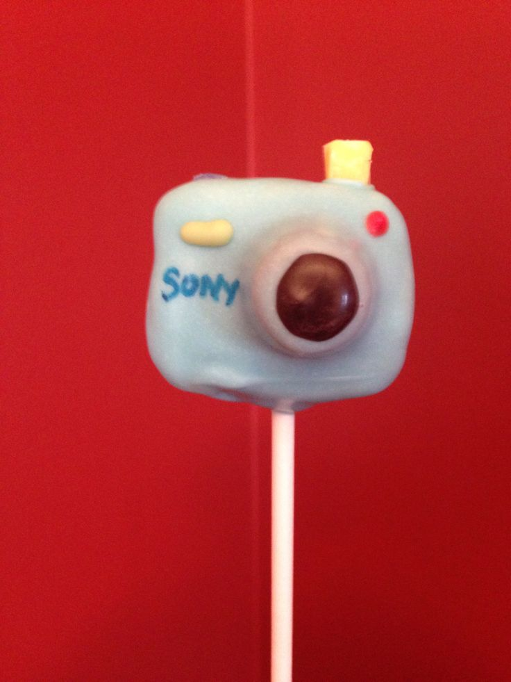 Camera cake pop