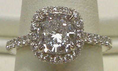 engagement rings cushion cut with halo - Google Search