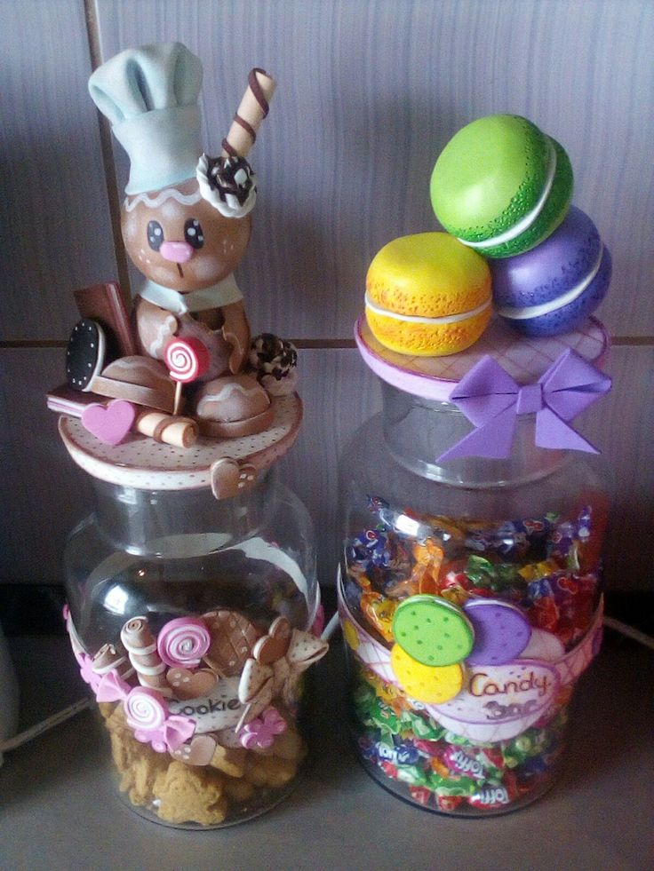 Foami candy biscuit dekorgumi üveg