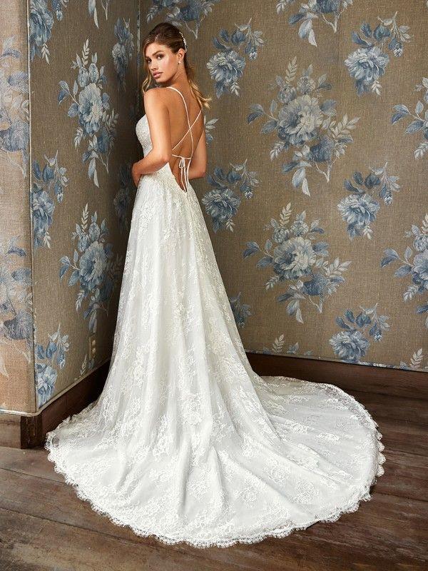 Simply Val Stefani Style S2105 With Crisscross Back Wedding Dress Backs Backless Wedding Dress Wedding Dresses Unique