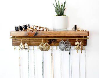 Sieraden Organizer met plank, houder ketting, armband en Earring houder