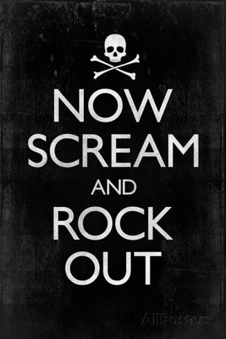 Now Scream and Rock Out Prints at AllPosters.com
