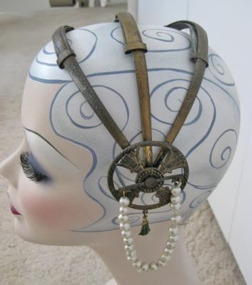 1920's Metal Headpiece: 1920 S, Idea, 1920S Fashion, Steampunk Bride, 1920S Hammered, 1920S Metals, 1920S Hats, 1920S Dresses, Metals Headpieces