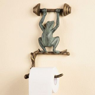 Frog Wall Mounted Toilet Paper Holder - Tropical - Toilet Accessories - atlanta - by Iron Accents