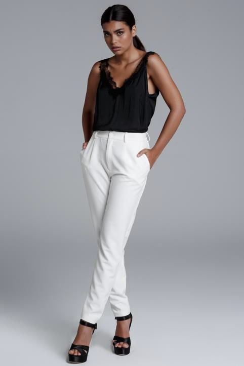 CKONTOVA cigarette trousers for special looks... White