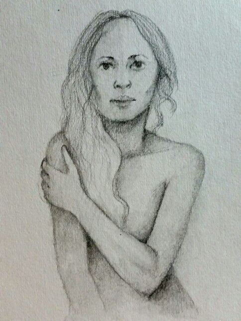 Sketch of a woman. Not sure how she feels :p