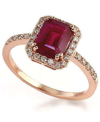 Rosa by EFFY Ruby (1-1/2 ct. t.w.) and Diamond (1/4 ct. t.w.) Ring in 14k Rose Gold my engagement ring