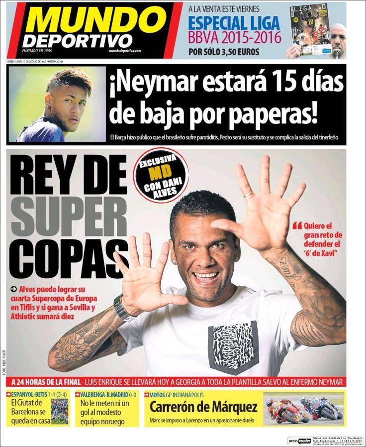Portada Mundo Deportivo 10/08/2015