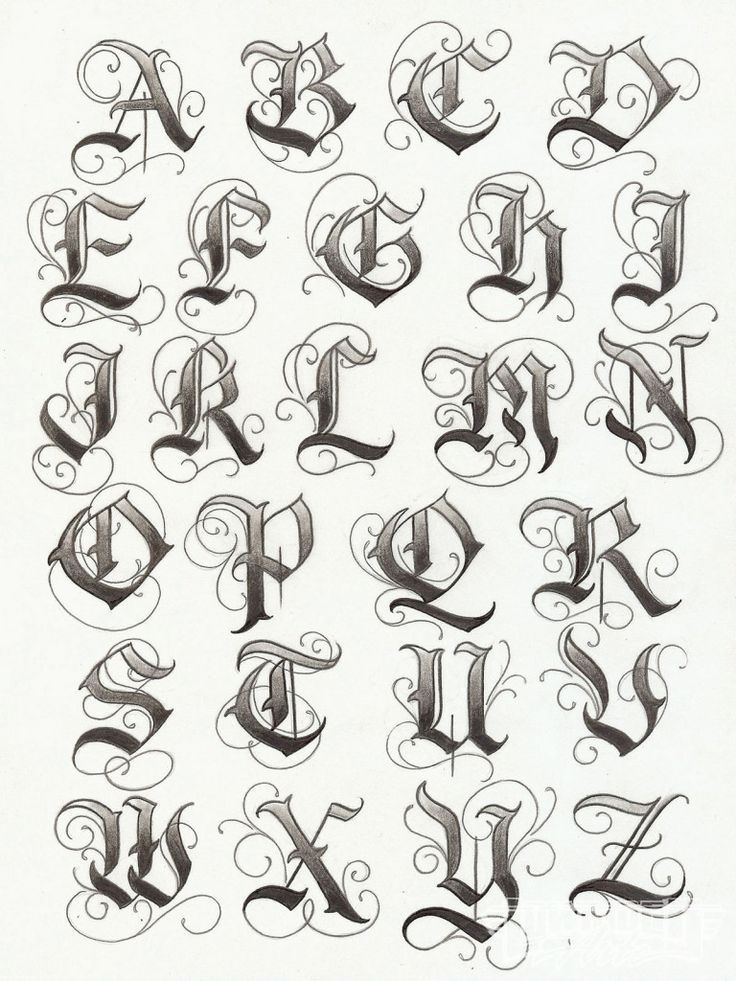 Artistic Examples Of English Tattoo Fonts - Cute Tattoo Design ...