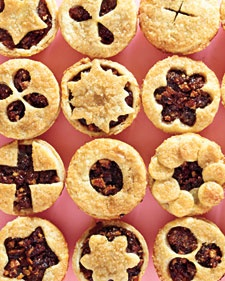 Use different cookie cutters or aspic cutters to create fun toppers for each of these dried-fruit tartlets, or cut decorative vents with a sharp knife.