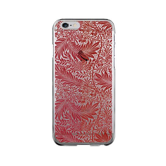 Clear Galaxy S7 S6 case iPhone SE case red iPhone 7 phone case